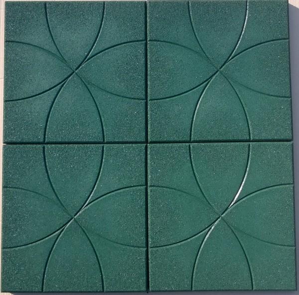 Резиновая плитка Укрплит Окружность&quo t;, толщина 30 мм, 350*350 мм