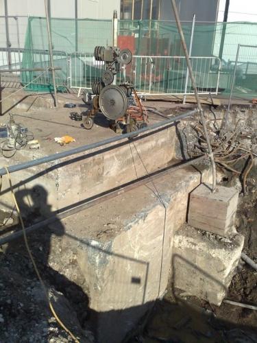 Резка бетонных конструкций канатными установками Донецк.