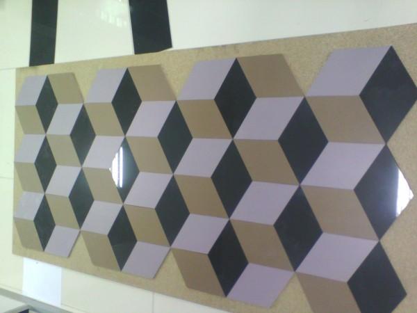 Резка керамогранита. 3D порезка «Куб»