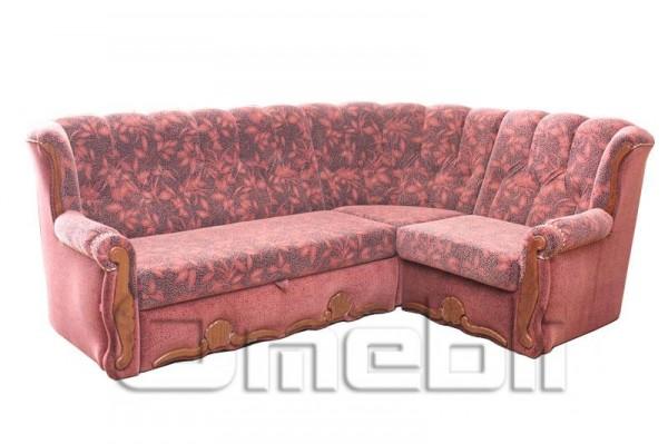Роксана Угловой диван ткань Баргатто гарнет и Лавазза гарнет Код A101332
