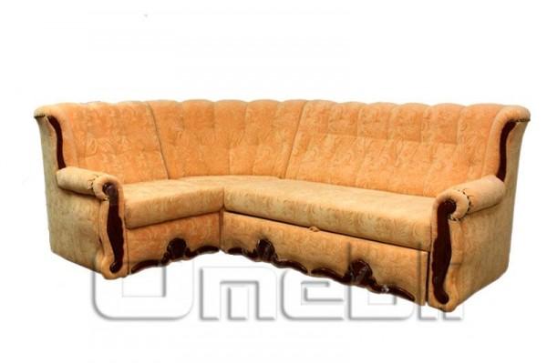 Роксана Угловой диван ткань Лувр пич. Код A101335