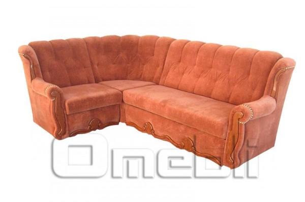 Роксана Угловой диван ткань Пума фокс Код A101333