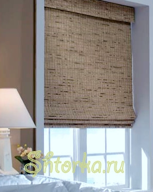 Роллеты из ткани и бамбука.