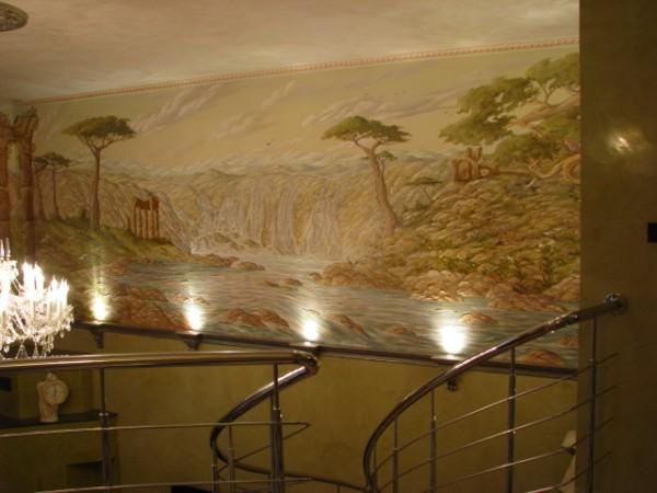 роспись стен материал и работа
