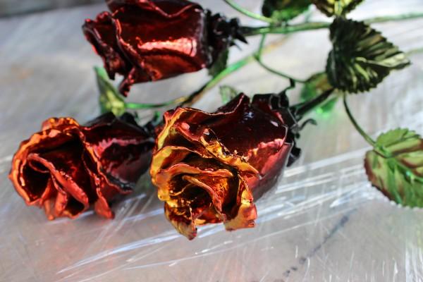 Роза из металла - Прекрасный подарок для любых праздников.