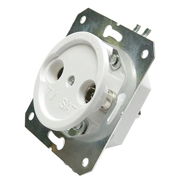 Розетка ТV для внутреннего монтажа ретро электрика