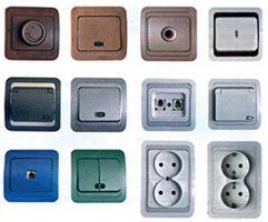 Розетки, выключатели, светорегуляторы, датчики присутствия, движения, АВВ, Legrand, GIRA, JUNG, Schneider Electric, POLO.
