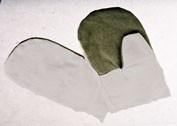 Рукавицы комбинированные двунитка брезент