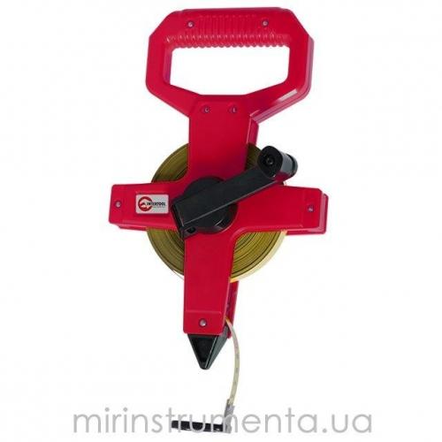 Рулетка геодезическая с металлическим полотном INTERTOOL MT-0555