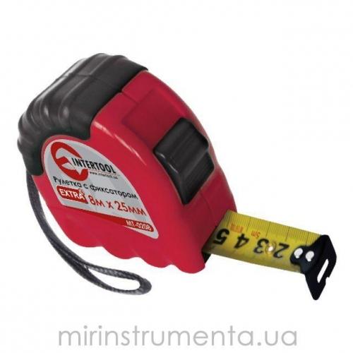 Рулетка с фиксатором INTERTOOL MT-0208