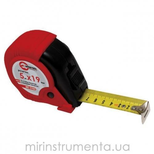Рулетка с металлическим полотном INTERTOOL MT-0105