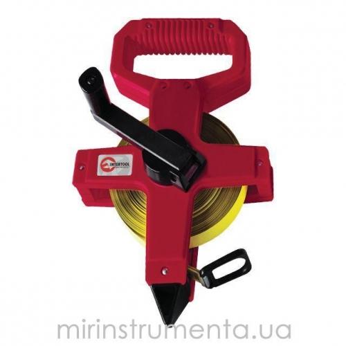 Рулетка с полотном из стекловолокна INTERTOOL MT-0753