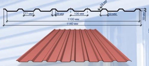 С - 18 Полная ширина – 1140 мм Полезная ширина – 1100 мм Длина — 400-7500 мм
