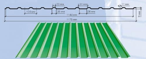 С - 8 Полная ширина – 1180 мм. Полезная ширина – 1144 мм. Длина — 400-10000 мм