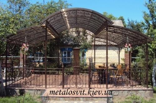 садовые беседки металлические ковка (под заказ)