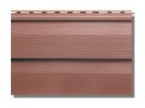 Фото  1 Сайдинг акриловый Альта-Профиль KANADA Плюс Премиум двухпереломный 3660х230х11 мм красно-коричневый 2035159