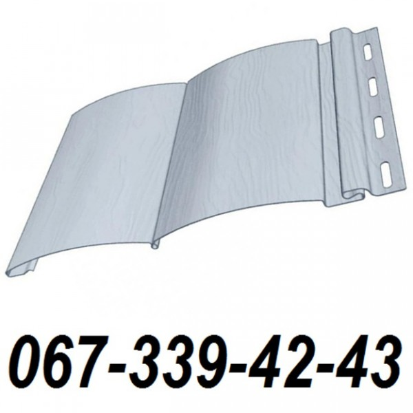 Сайдинг FineBer блок-хаус торреа серый (3,66 м*0,232м) (0.85 м2)