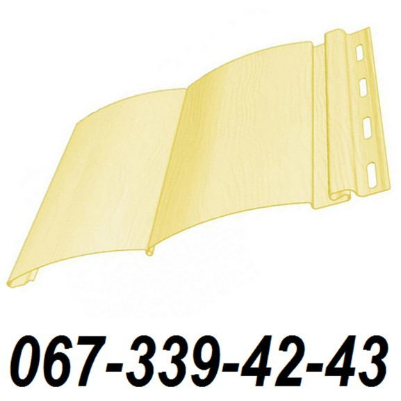 Сайдинг FineBer Шампань (Желтый) (блокхаус, бревно) 0,85 м2