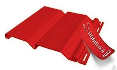 Сайдинг FineBer Стандарт Красный 0,75 м2