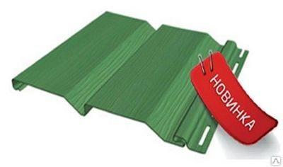 Сайдинг FineBer Стандарт Зеленый 0,75 м2