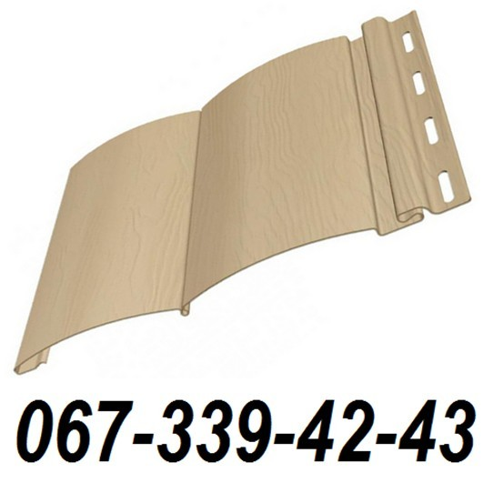 Сайдинг FineBer Цвет Сандал (блокхаус, бревно) 0,85 м2