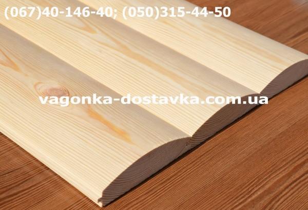 Сайдинг из дерева сосна плоский и полукруглый. От производителя. Доставка по адресу!