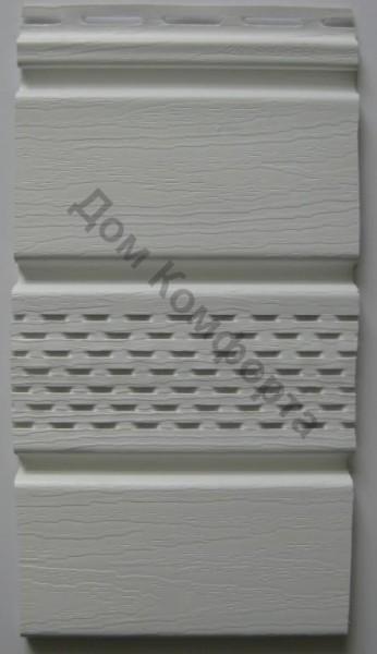Сайдинг софит Royal, белый перфорированный. Размер панели 3,66 х 0,306 (1,12 м2/шт).