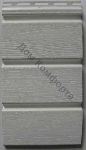 Сайдинг софит Royal, белый сплошной. Размер панели 3,66 х 0,306 (1,12 м2/шт).