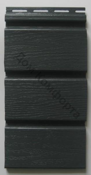 Сайдинг софит Royal, графитовый сплошной. Размер панели 3,66 х 0,306 (1,12 м2/шт).