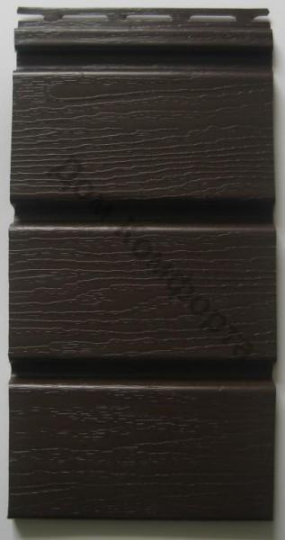 Сайдинг софит Royal, коричневый сплошной. Размер панели 3,66 х 0,306 (1,12 м2/шт).