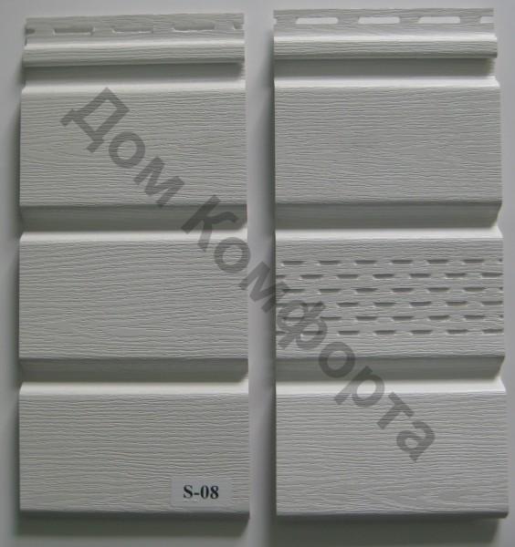 Сайдинг софит Вокс (VOX), белый (сплошной и перфорированный)