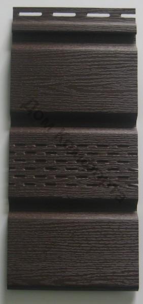 Сайдинг софит Вокс (VOX), коричневый (сплошной и перфорированный)