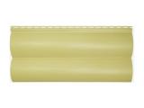 Фото  1 Сайдинг виниловый Альта-Профиль BlockHouse Slim двухпереломный 3660х230x11 мм лимонный 2035171