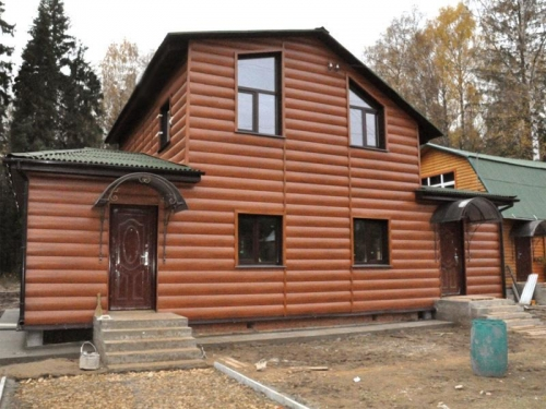 Сайдинг виниловый Блок-Хаус(под бревно) двухпереломный в Харькове. Расчет комплектующих. Доставка.
