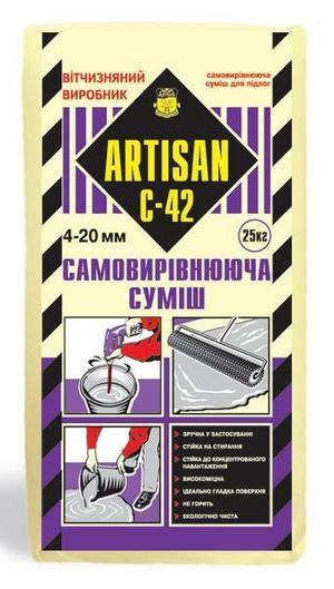 Самовыравнивающаяся смесь для пола Артисан С-42 (4-20мм) (25кг)