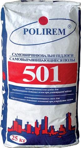 Самовыравнивающаяся смесь POLIREM 501 пол для первоначального выравнивания оснований, (5-50мм) в Броварах