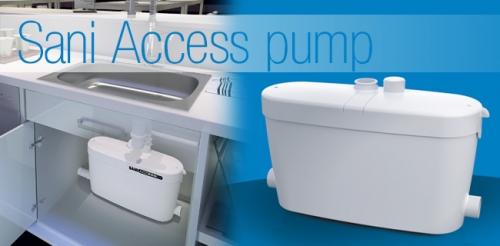 SANIACCESS PUMP для подключения душа, биде, ванны, умывальника, стиральной и посудомоечной машины.