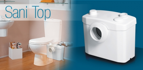 SANIPRO предназначен для откачивания сточных вод от всей ванной комнаты