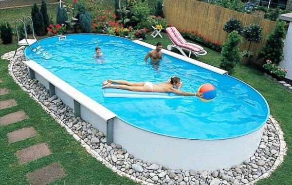 Сборно-каркасный бассейн (овальный) Summer Fun 3,20х5,25х1,20 м