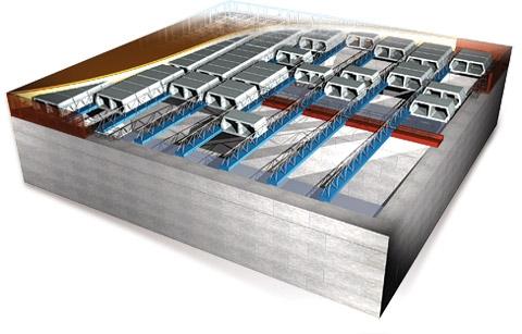 Сборно монолитное перекрытие Терива (Teriva), идеальное решение при строительстве и реконтсрукции.