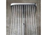 Фото  1 Душова система з термостатом для настінного монтажу New Tempesta Cosmopolitan 250 із верхнім душем кубічної форми 2321007