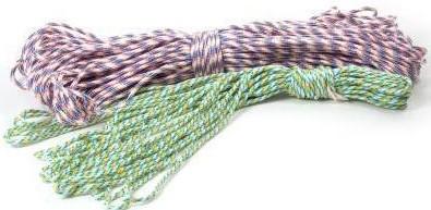 Шнуры плетеные полиамидные в ассортименте