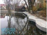 Формирование берегов озера, пруда - шпунтом ПВХ