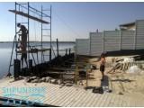 Шпунтование берега, набережная с композитным покрытием. Укрепить берег шпунтом ПВХ