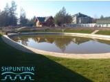 Создание озера, искусственный пруд - укрепить берег. шпунт ПВХ