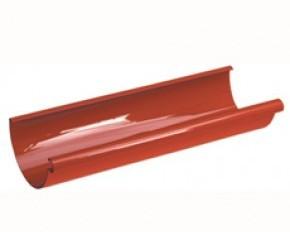 Желоб водосточный GALECO 135 сталь белый, коричневый, медный, графит