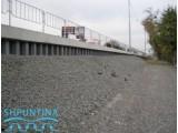 Укрепление откосов фундаментов дорог шпунтом ПВХ,