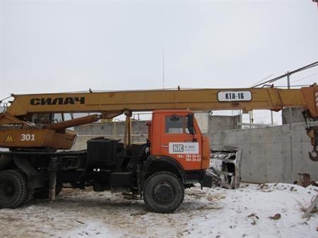Сдается в аренду грузоподъемный кран КТА-16. Грузоподьемность - 16 тонн. Вылет срелы - 15,3 м.
