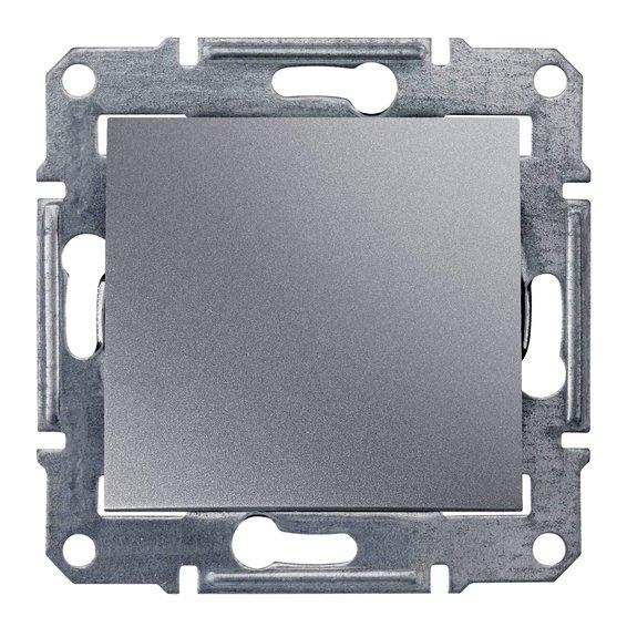 Фото  1 Выключатель одноклавишный Schneider Electric Sedna алюминий SDN0100160 1943884