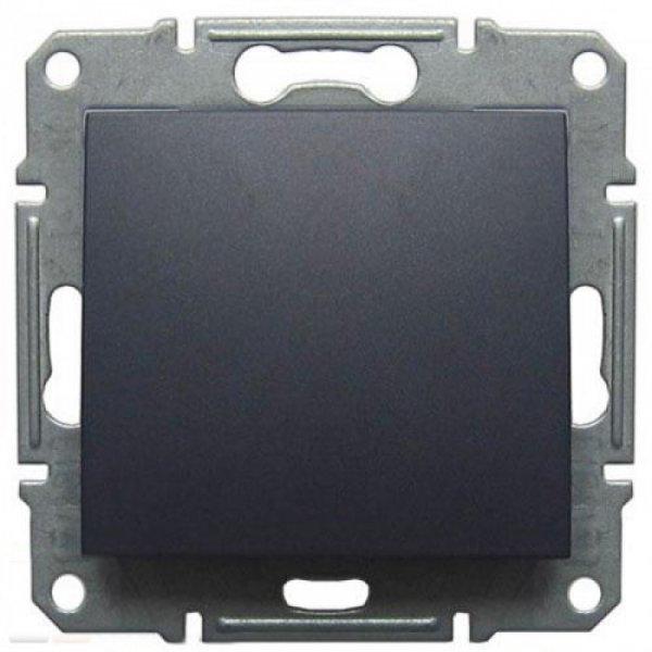 Фото  1 Выключатель одноклавишный Schneider Electric Sedna графит SDN0100170 1943886